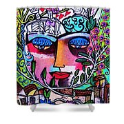 Tree Of Life Face Shower Curtain