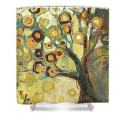 Tree Of Life In Autumn Shower Curtain by Jennifer Lommers