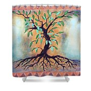 Tree Of Life Shower Curtain by Kathy Braud