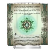 tree of life ketubah-Reformed and Interfaith version Shower Curtain
