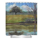 Tree Of Life Landscape Shower Curtain