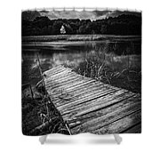 Tree Of Zen Black And White Shower Curtain