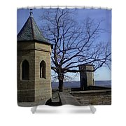 Tree On The Castle Wall Shower Curtain
