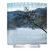 Tree Over Gasconade River Shower Curtain