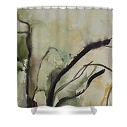 Tree Series V Shower Curtain by Leila Atkinson