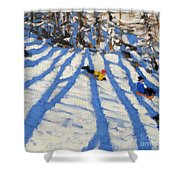 Tree Shadows Morzine Shower Curtain