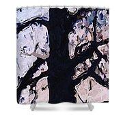 #tree Silhouette Shower Curtain