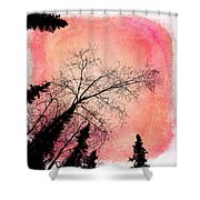 Tree Silhouettes I Shower Curtain