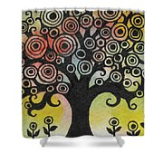 Tree Song Shower Curtain