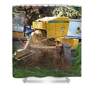 Tree Stump Removal Shower Curtain