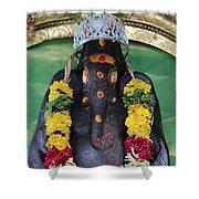 Tree Temple Ganesha, Valparai Shower Curtain