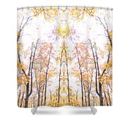 Tree Temple Shower Curtain