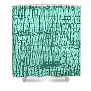 Tree Texture Turquoise Shower Curtain