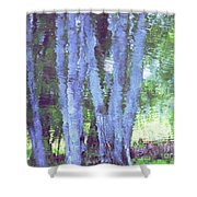 Tree Trunks Shower Curtain