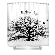 Tree-trust Your Wings Shower Curtain