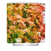 Tree With Autumn Leaves Shower Curtain