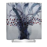 Tree With Balls Five Shower Curtain