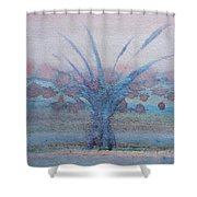Tree With Balls Four Shower Curtain