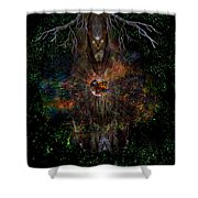 Tree Wizard Shower Curtain