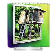 Treehouse Fort Shower Curtain