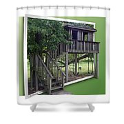 Treehouse Playground Shower Curtain