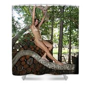 Trees 347 Shower Curtain