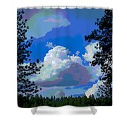 Trees And A Cloud For Crying Out Loud Shower Curtain
