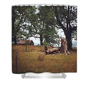 Trees And Cabin Shower Curtain