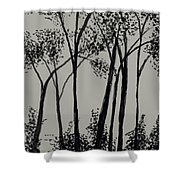 Trees At Dusk   Shower Curtain