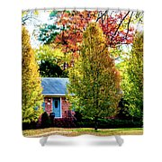 Trees Backlit By The Sun 0576t2 Shower Curtain