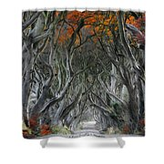 Trees Embracing Shower Curtain