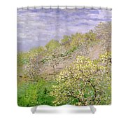 Trees In Blossom Shower Curtain
