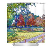 Trees In Park 1 Shower Curtain