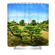 Trees In The City Shower Curtain