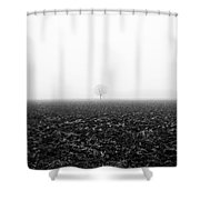 Trees In The Fog 1 Of 4 - Lombardy / Italy Shower Curtain