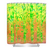 Trees In The Grass Shower Curtain