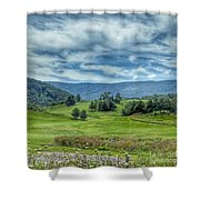 Trees In The Valley Shower Curtain