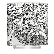 Trees In The Woods   Shower Curtain