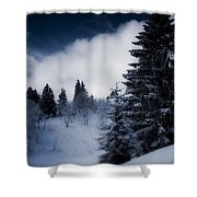Trees Mountains And More Trees Shower Curtain