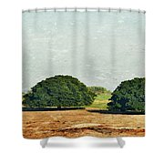 Trees On Field Shower Curtain