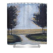 Trees On Rural Road 2 Shower Curtain