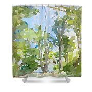 Trees On Ski Island, Banana River, Cape Canaveral, Fl. Shower Curtain