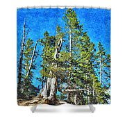 Trees On The Edge 2 Shower Curtain