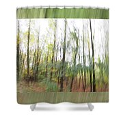 Trees On The Move Shower Curtain