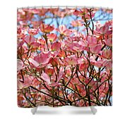 Trees Pink Spring Dogwood Flowers Baslee Troutman Shower Curtain