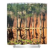 Trees Reflecting Shower Curtain
