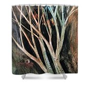Trees That Tumble Shower Curtain