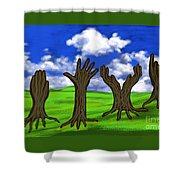 Trees #0078 Shower Curtain
