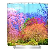 Trees With Color Shower Curtain