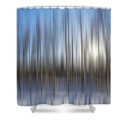 trees Alaska blue abstract Shower Curtain